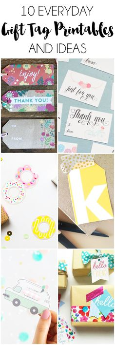 10 Everyday Gift Tag Printables and Ideas. Make an everyday gift extra special with these 10 Everyday Gift Tag Printables and Ideas. Diy Home Decor Projects, Diy Projects To Try, Dollar Tree Storage Bins, Diy Wall Shelves, Gift Tags Printable, Personalized Mugs, How To Make Paper, Diy Organization, Organizer