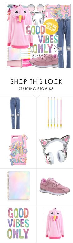 """Only good vibes,watch all of these colorful scribes! 🌈"" by jelena-bozovic-1 ❤ liked on Polyvore featuring Emilio Pucci and ban.do"