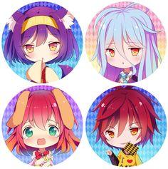 Tags: Anime, Hitsukuya, No Game No Life, Shiro (No Game No Life), Sora (No Game No Life), Hatsuse Izuna, Stephanie Dora