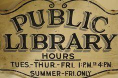 public library vintage photos