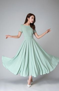 vintage style dress, short sleeve dress, boat neck dress, fit and flare dress, swing dress, women dresses, blue dress, bridesmaid dress 1521