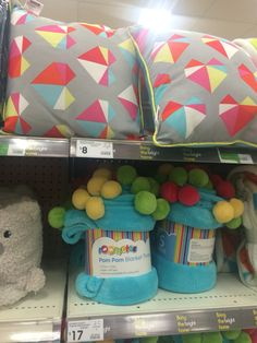 Decorative cushion for single bed + a throw for bottom Of bed as well -Kmart