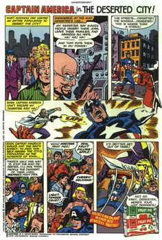 Captain America in the Deserted City // Hostess Ad // Comic Book Advertising