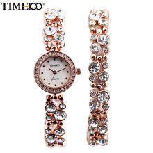 TIME100 Mulheres Pulseira Relógios de Quartzo Waches Diamante Rosa de Ouro Shell Dial Senhoras Vestido Relógio de Pulso Relógio de Presente relogio feminino(China (Mainland))