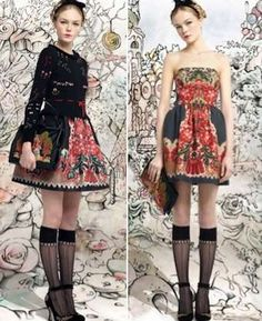 Fancy Folkloric Fashions - The RED Valentino Fall 2013 Collection is a Fairy Tale Come to Life (GALLERY)