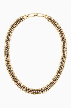 "Vintage gold plating with subtle sparkle. A sophisticated staple to your wardrobe. Great as a stand alone style or can be layered for a statement look.     Vintage Gold Plating  18 1/2"" with 1 1/2"" Extender  Foldover Clasp Closure"