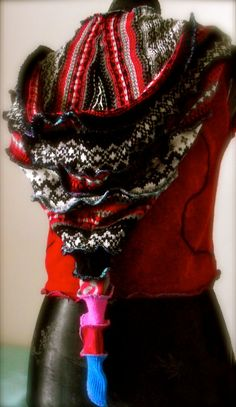 Pixie Red Upcycled Vest