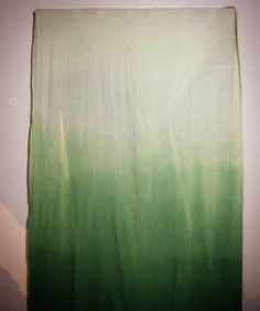 #selfmade #curtain #green #ombre