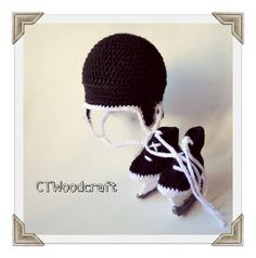 Crochet Hockey Helmet and skates choose your own by ctwoodcraft