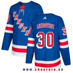 Men s New York Rangers  30 Henrik Lundqvist Royal Blue Home 2017-2018  Adidas Hockey cd7d10bbe