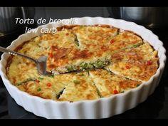 Torta de brócolis low carb - YouTube