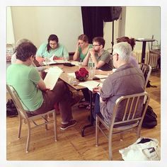 Table work! The McGowan Trilogy in rehearsal with Paul Nugent, Rachel Kitto, Brian Reager and Seamus Scanlon.  Limited run at NYC's The Cell Theater. http://www.thecelltheatre.org/events/2014/9/11/the-mcgowan-trilogy-7-pm