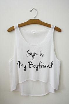 Gym is My Boyfriend Crop top by hipster tops