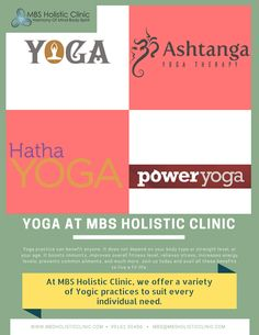 #Yoga at #MBSHolisticClinic  #Yoga practice can benefit anyone. It does not depend on your body type or strength level, or your age. It boosts immunity, improves overall #fitness level, #relievesstress, #increasesenergylevels, prevents common #ailments, and much more. Join us today and avail all these benefits to live a fit life.