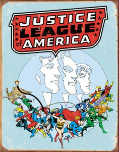 Justice League Retro Plaque en métal - AllPosters.ca