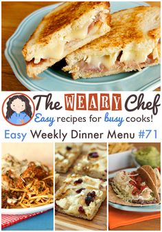 Easy Weekly Dinner Menu #71: White Pizza, Easy Tacos, and More!