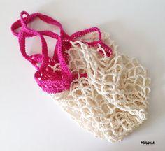 Hand Crocheted Market / Beach Bag by morganela on Etsy