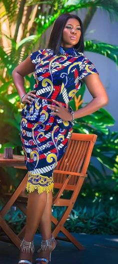 Stunning Ankara Gown Styles to Slay this Weekend African Dresses For Women, African Print Dresses, African Attire, African Wear, African Women, African Prints, African Style, African Outfits, African Clothes