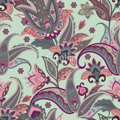 Вектор: Native flowers seamless paisley pattern. Wrapping print. Stylized floral motif