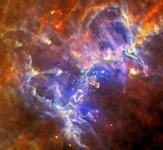 Inside the Eagle Nebula: astronomers have found evidence in the image data pointing to the remnant of a supernova explosion with an apparent age of 6,000 years. If true, the expanding shock waves would have destroyed the visible structures, including the famous pillars. But because the Eagle Nebula is some 6,500 light-years distant, their destruction won't be witnessed for hundreds of years.