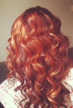 Red, hair, curly, girl,