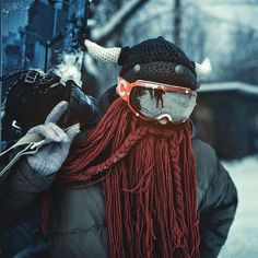 The Legendary Barbarian Beard Beanie and Face Shield - Vikings Knitted Beard, Crochet Beard Hat, Vikings, Beard Beanie, Slouchy Beanie, Viking Beard, Hand Knitting, Knitting Ideas, Knitting Projects