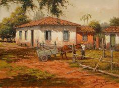 Imágenes Arte Pinturas: Campesinos Cuadros Al Óleo Paisajes de Clóvis Péscio