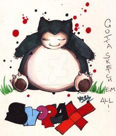 SNORLAX - fst gen pokemon by eREIina.deviantart.com on @DeviantArt