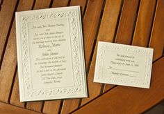 A beautiful wedding invitation for your wedding invitation. The price is $99.90 for 100. A great buy. Social Graces, LLC located in Mendham, NJ.