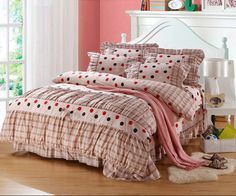 Yous Home Textiles,Adult Pure cotton Twill Korean 4pcs bedding sets quilt cover flat sheet pillowcase bedspread bedding product $88.00