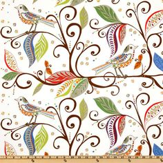 I love this fabric: 'Wren Gypsy' by Valori Wells, from the Wrenly Home Décor Twill collection