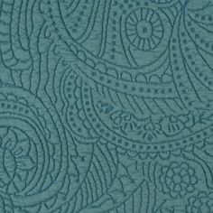 Oil Blue Dimensional Paisley Knit
