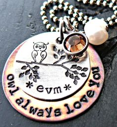 Personalized Jewelry  Hand Stamped Necklace  by yourcharmedlife, $45.00