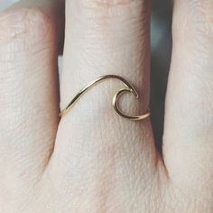Sterling silver Wave Ring/gold filled/surf/ocean wave ring/ocean ring/silver wave ring/gold wave ring/surfing/wire wave ring/beach jewelry