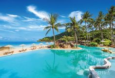 Delight in tropical vistas and oceanside discoveries at Sheraton Samui Resort, a resort hotel and spa located on idyllic Chaweng Noi Beach in Koh Samui. Visit Thailand, Thailand Travel, Samui Thailand, Best Beaches In Phuket, Kids Attractions, Ko Samui, Beach Activities, Flight And Hotel