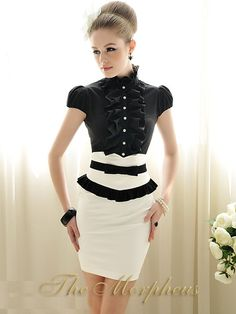 Morpheus Boutique  - Black Lovely Designer Lady Cap Sleeve Ruffle Collar Shirt, $39.99 (http://www.morpheusboutique.com/products/copy-of-white-lovely-designer-lady-bow-ruffle-collar-flare-sleeve-shirt-1.html/)