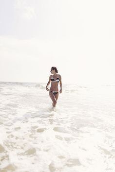 Stripes in the surf.