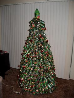 arbol navidad reciclado