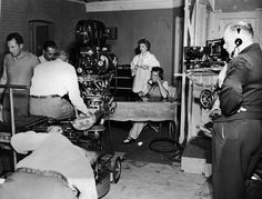Behind the scenes of the first episode of I Love Lucy filmed. (no counting the pilot)