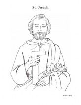 St. Joseph the Worker coloring page © 2009 C.M.W. All