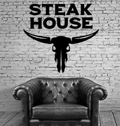 Wall Vinyl Decal Steak House Meat Decor Catering Restaurant Cafe Stickers z4756