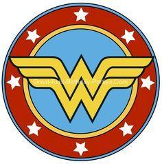 Free Superhero Printables - Wonder Woman printable sticker, small and large sizes.