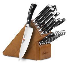 Wusthof Classic Ikon Premier Knife Block Set, 17-piece Cherry | cutleryandmore.com