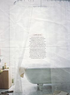 Eyelet shower curtain, via Martha Stewart Living