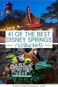 If you are visiting Disney Springs at Disney World this year, then you need this great list from Ziggy Knows Disney! We list the best restaurants you will find there so you don't miss out on all the delicious places to eat! You and your family will love the delicious foods they serve! Visit one of these restaurants when you go to Disney World! Disney World Secrets, Disney World Food, Disney World Tips And Tricks, Disney Tips, Disney World Vacation Planning, Walt Disney World Vacations, Disney Planning, Trip Planning, Disney Springs Food