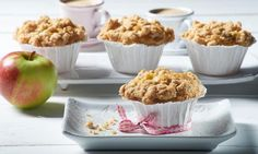 Saftige Muffins mit Haferflocken und Apfel