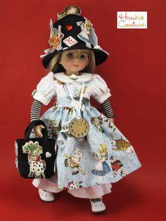 Alice in Wonderland!   Hankie Couture fun!