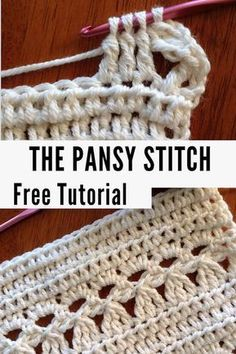 Learn this beautiful Pansy stitch in the Free Tutorial on Desert Blossom Crafts!… Learn this beautiful Pansy stitch in the Free Tutorial on Desert Blossom Crafts! Step by step instructions and pictures included. Beau Crochet, Stitch Crochet, Crochet Diy, Crochet Crafts, Crochet Projects, Crochet Stitch Tutorial, Craft Projects, Crochet Cluster Stitch, Diy Crafts