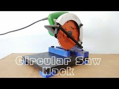 For cutting a fence picket lengthwise how to make a perfectly circular saw hack make a mini chop saw machine youtube greentooth Choice Image