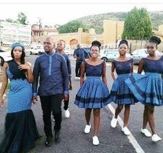 African sotho Shweshwe dresses for 2020 ⋆ African Bridesmaid Dresses, African Wedding Dress, African Print Dresses, African Print Fashion, African Fashion Dresses, Wedding Dresses, Traditional Wedding Attire, Traditional Outfits, Traditional Weddings